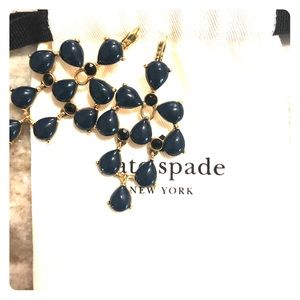 Kate Spade Navy blue chandelier earrings